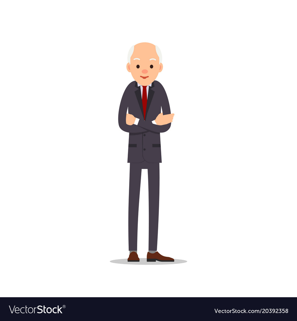 Old Man In A Suit