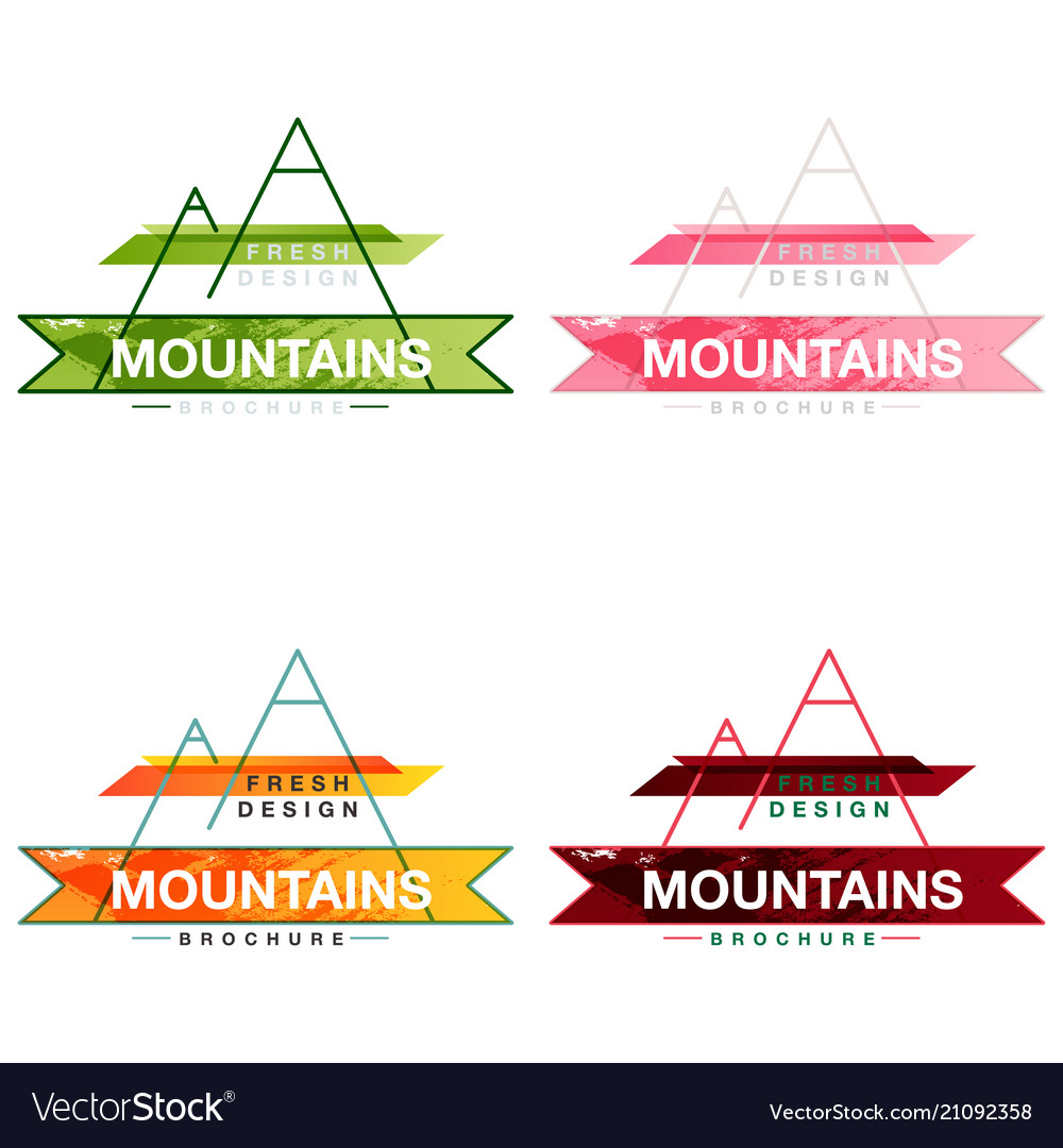 mountain and sunset logo blue and orange color