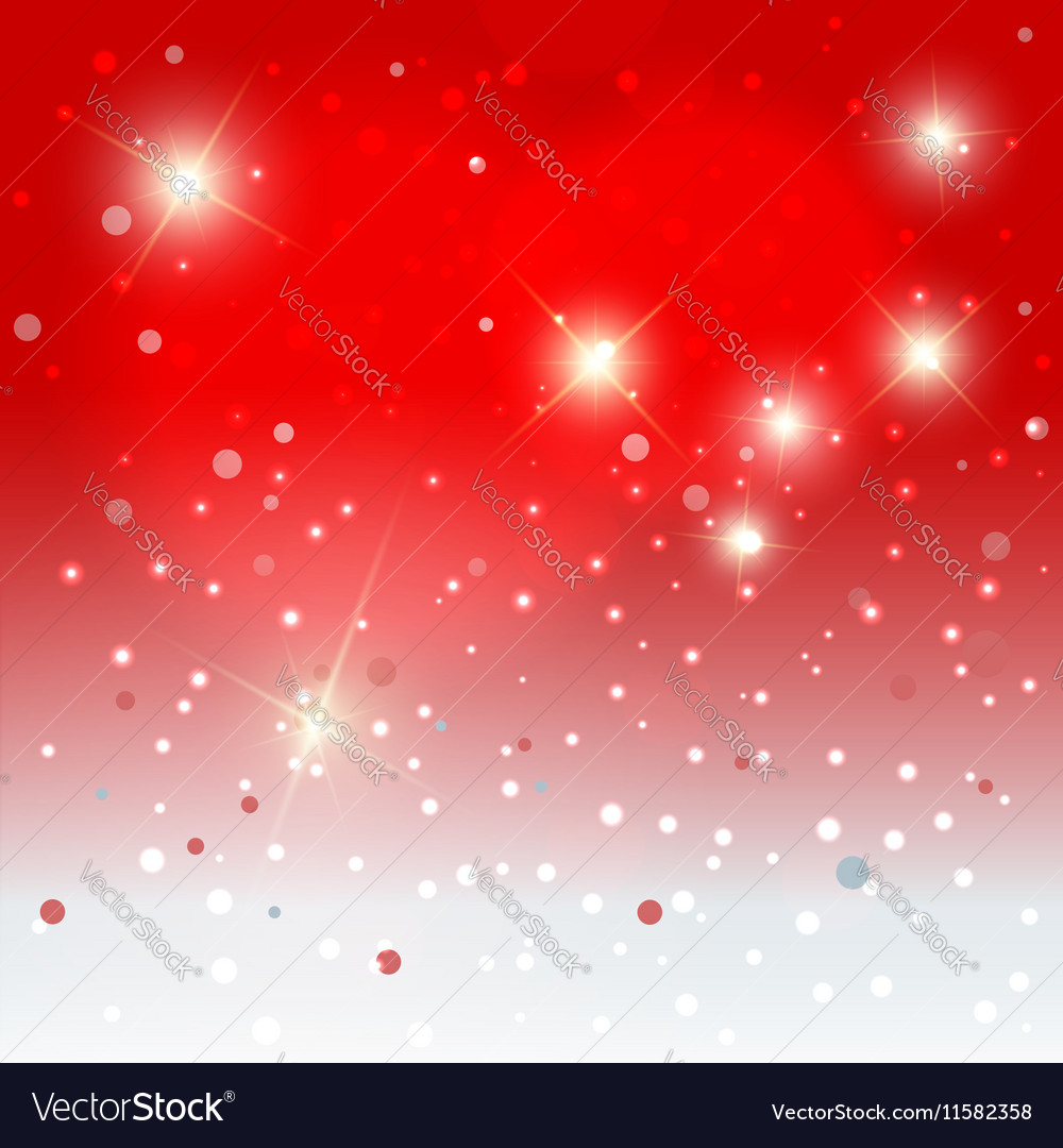 Snowflakes with stars background