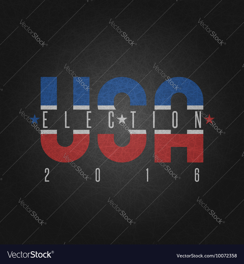 USA presidential election poster elections