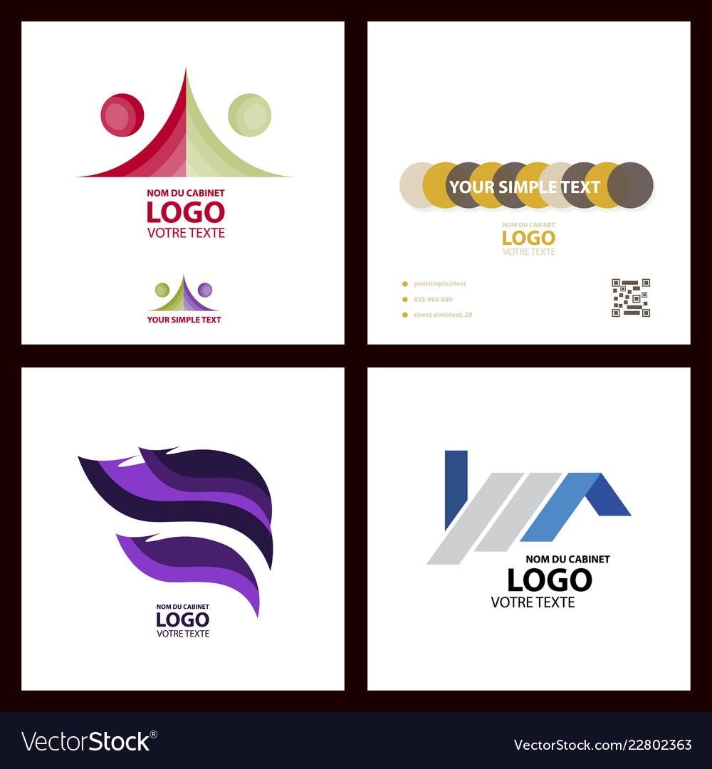 Abstract linear logotype wave flow logo symbol