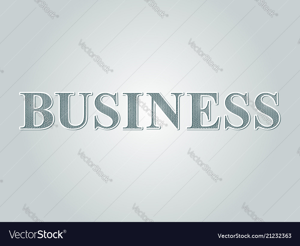 Business concept text guilloche money pattern