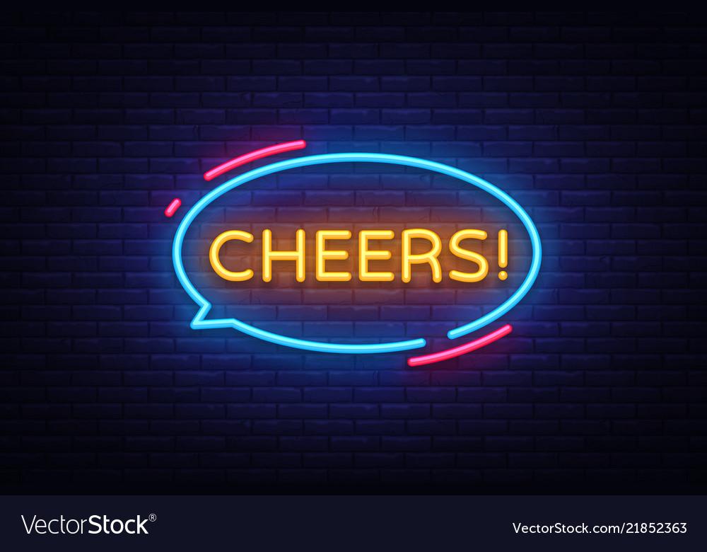 Cheers neon text cheers neon sign design