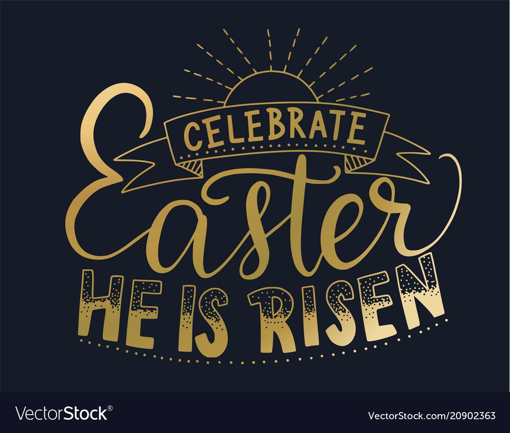 Easter lettering card