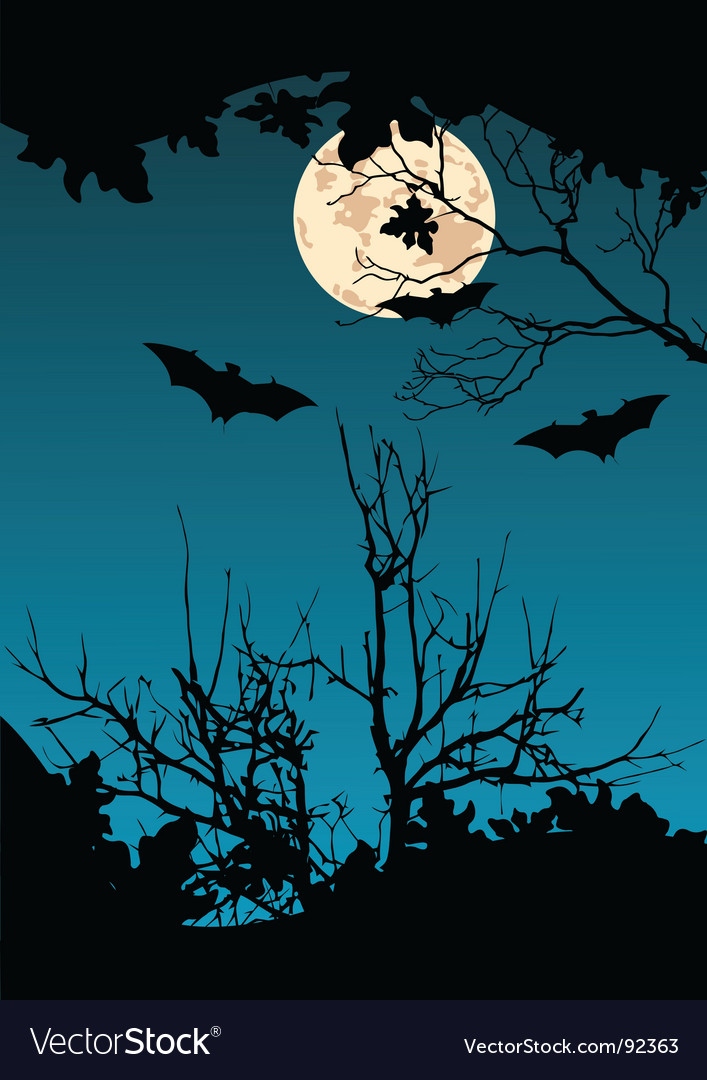 Flying bats vector
