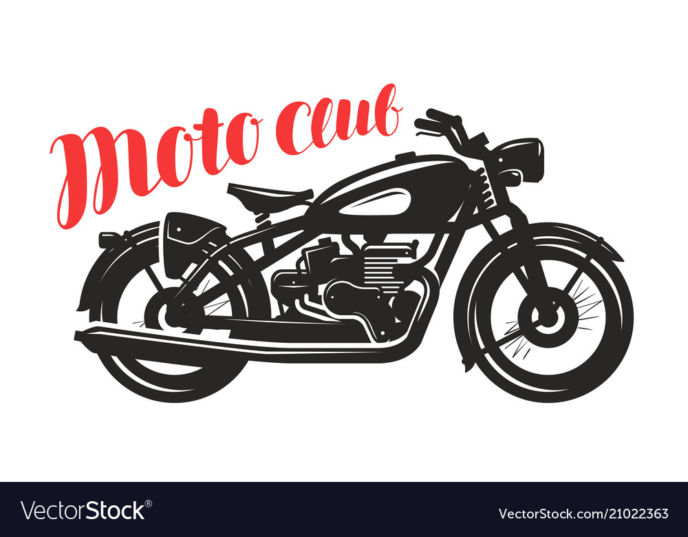 Motorcycle motorbike silhouette moto club logo