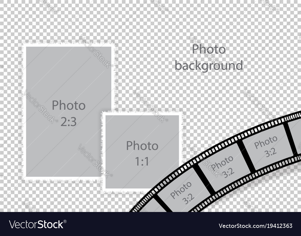 Wedding frames for photomontage Royalty Free Vector Image