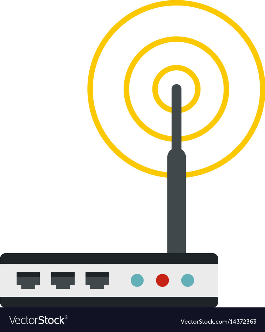 Wifi router icon isolated vector image