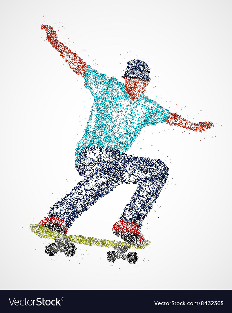 Abstract skateboarder athlete