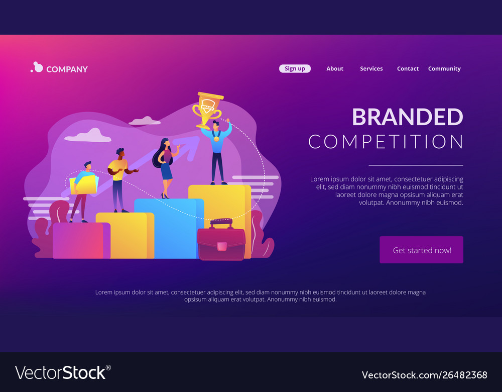 Branded competition concept landing page