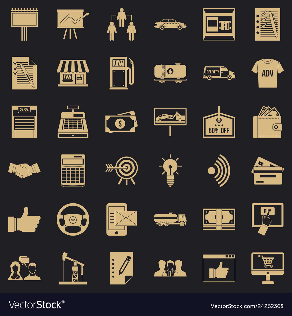 Businessman icons set simple style