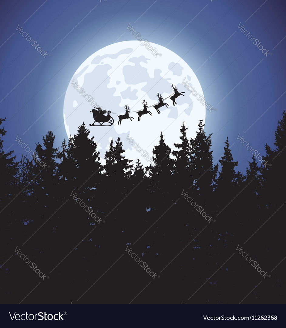 Christmas holiday background with santa claus