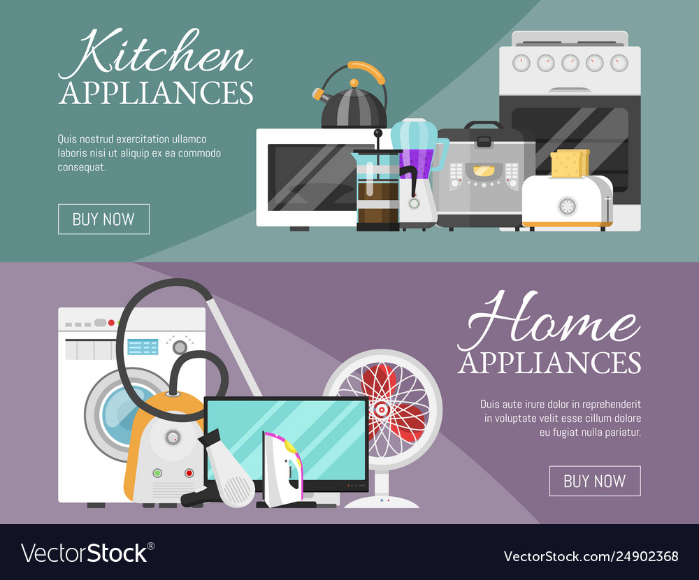 Electronic household appliances banner