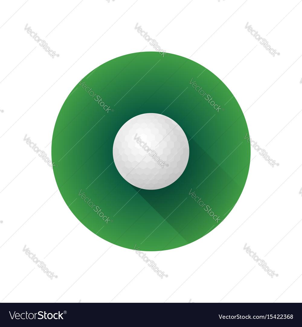 Flat color golf ball