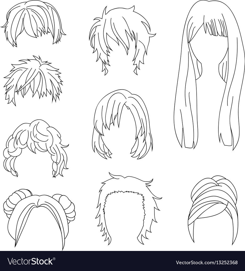 Hairstyle man and woman line2