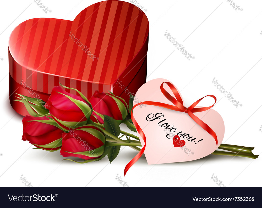 Holiday Valentines day background Red roses with