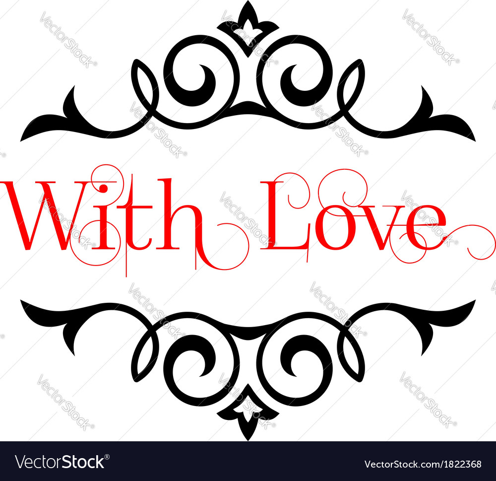 I Love You header with text vector image