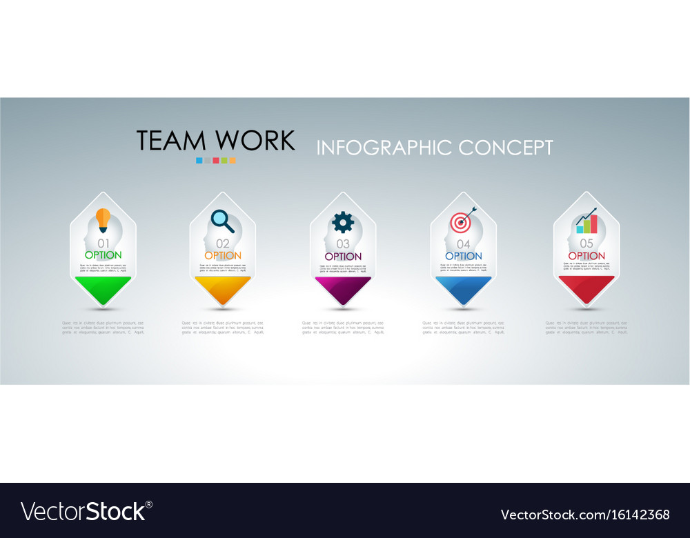 Info graphic teamwork business concept