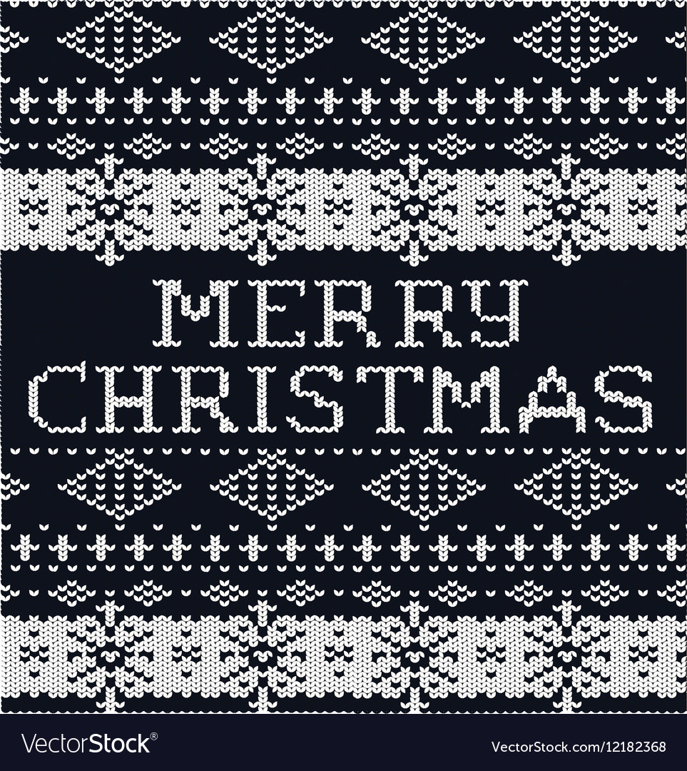 Knitted pattern sweater background christmas black