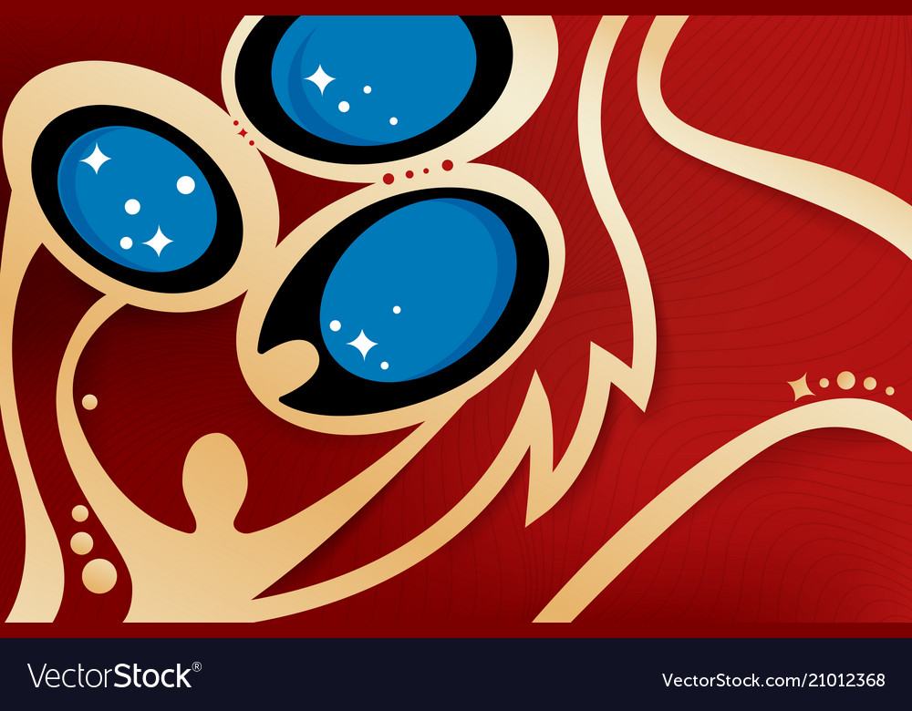 Russian gold and red background world cup