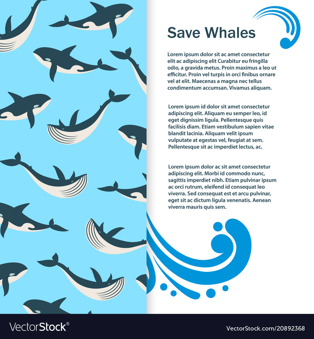 Save whales banner design