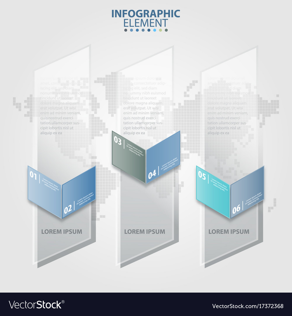 Vertical transparent banner business infographic vector image