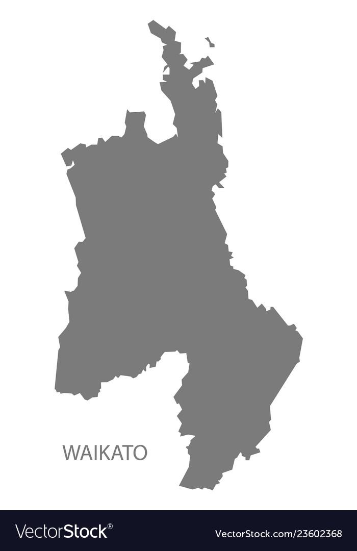 Waikato New Zealand Map.Waikato New Zealand Map Grey