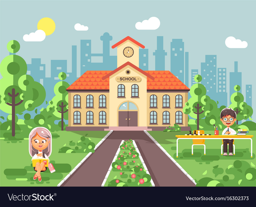 Back to school character vector image