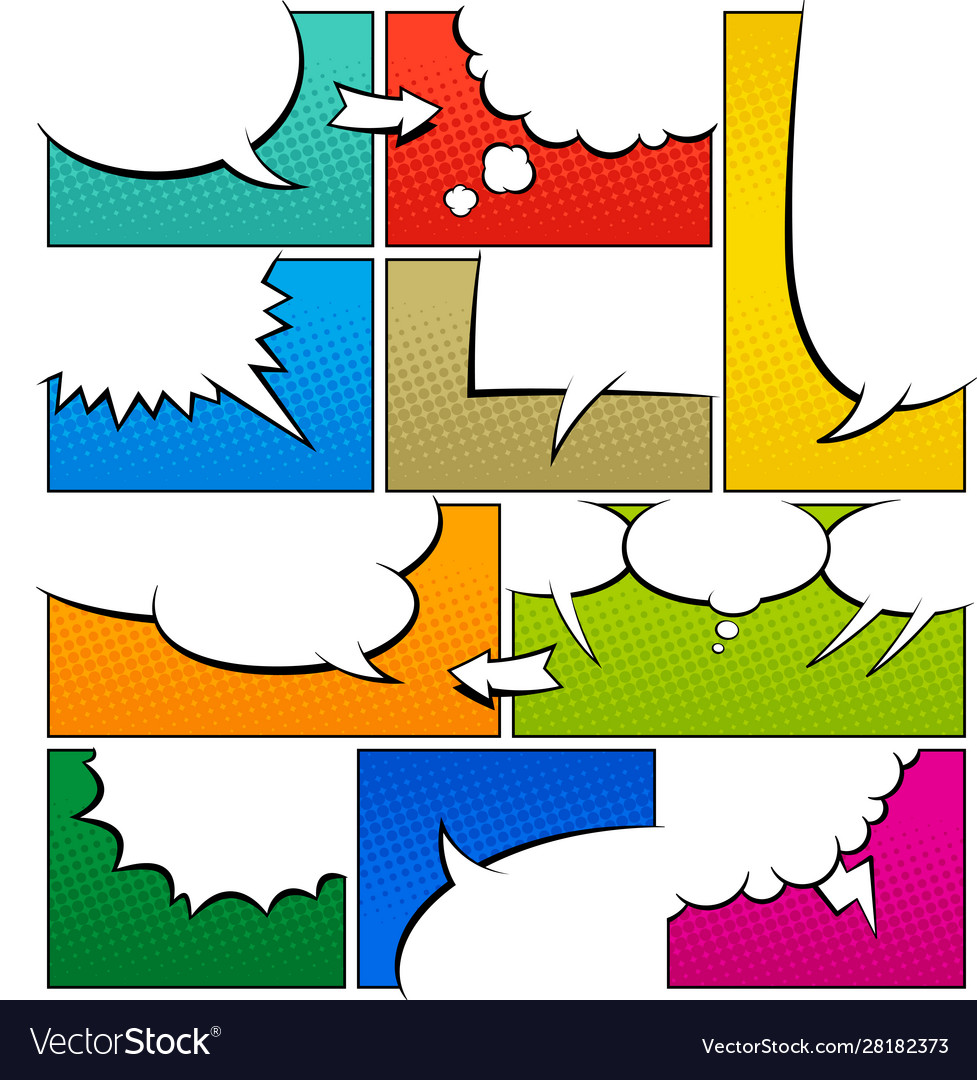 Color comic book page template