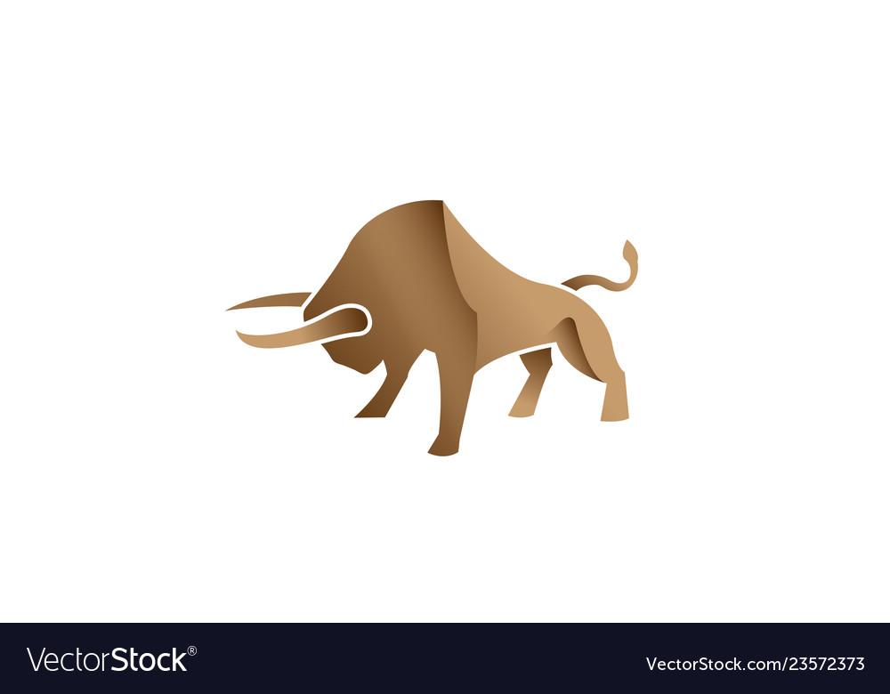 Creative bull bison logo