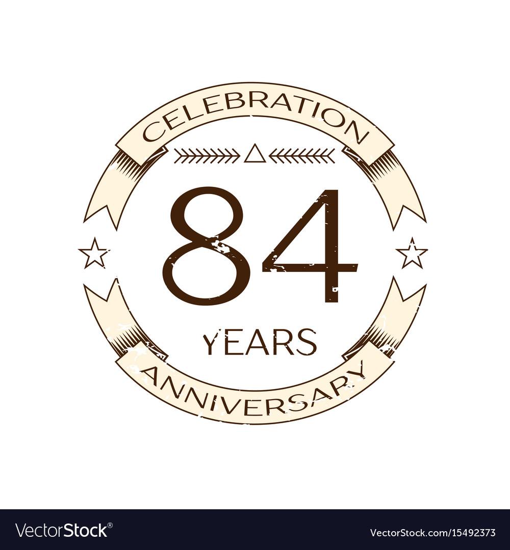 Eighty four years anniversary celebration logo