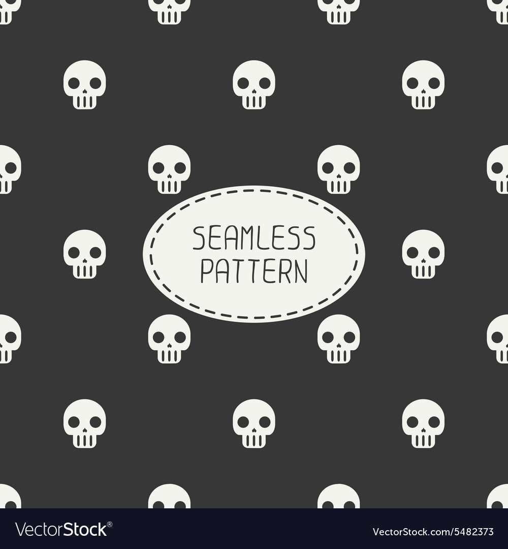 Geometric hipster seamless pattern with skulls and