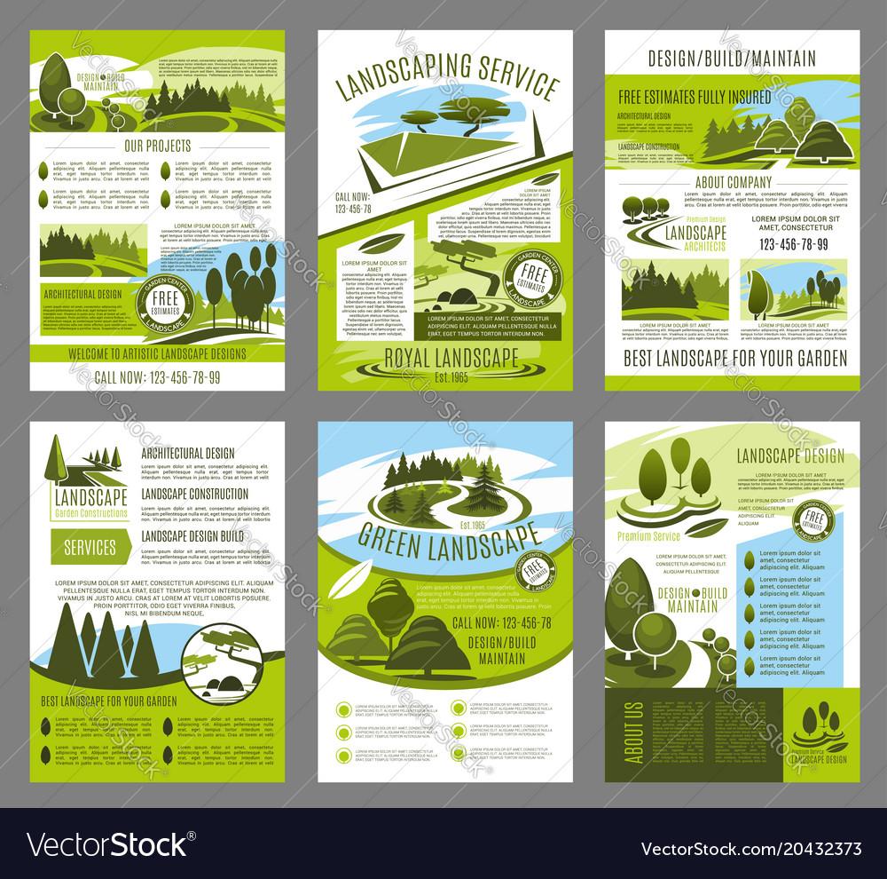 Landscape garden design brochure template