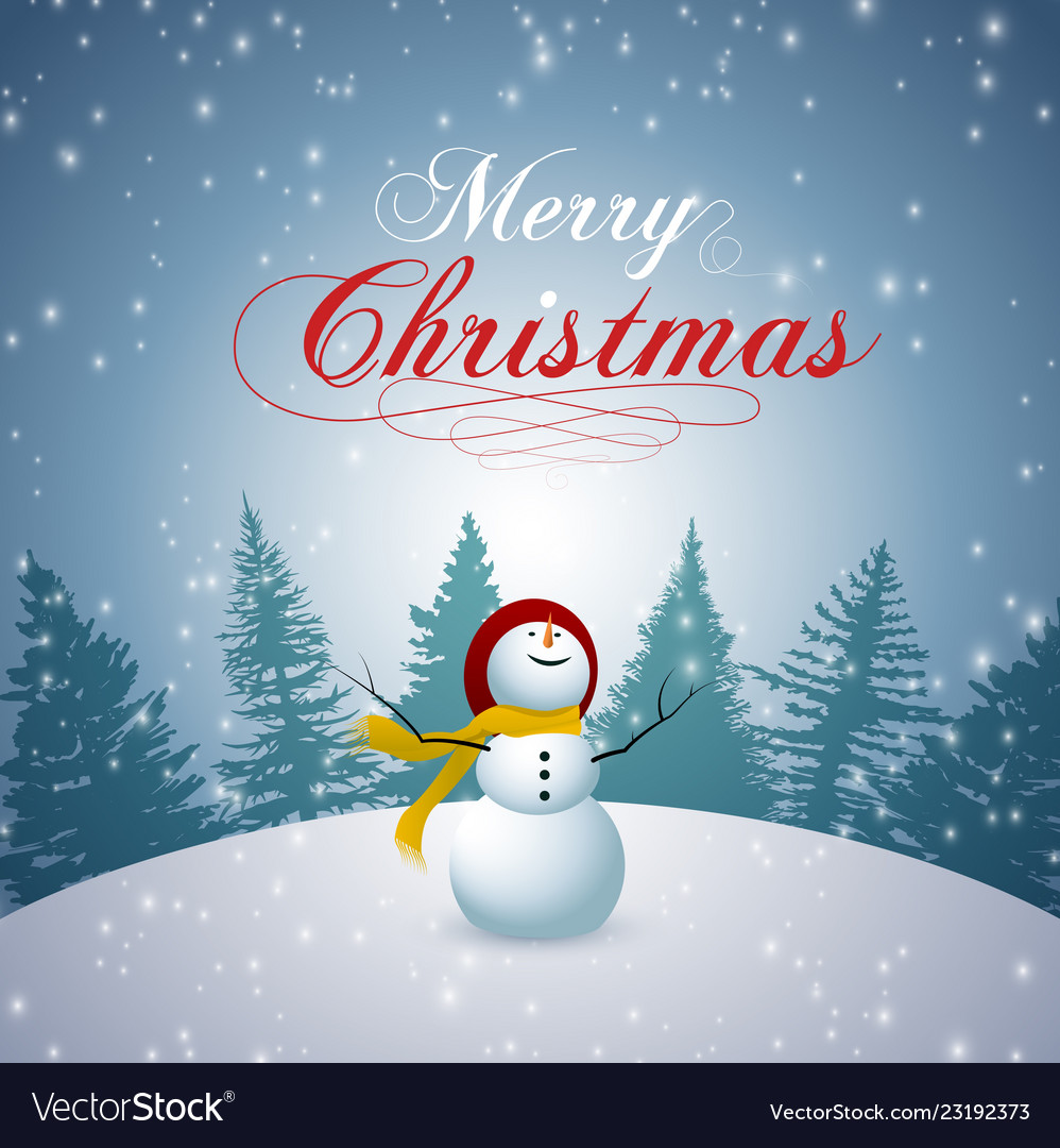 Merry christmas happy new year 2019 and snowman se