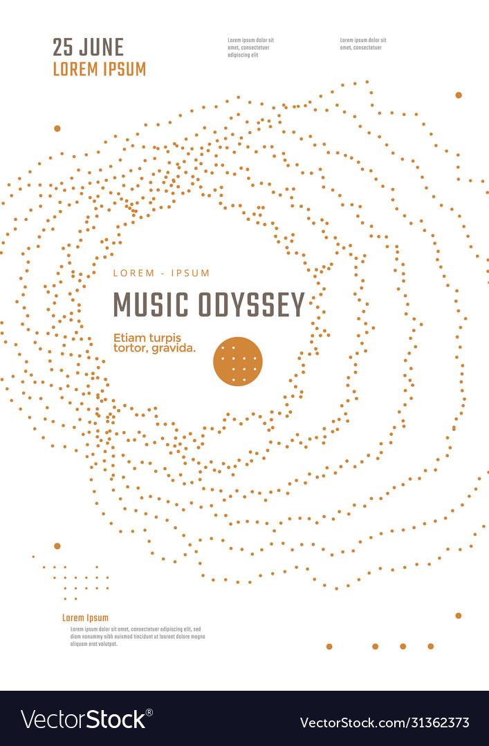 Music odyssey festival poster design