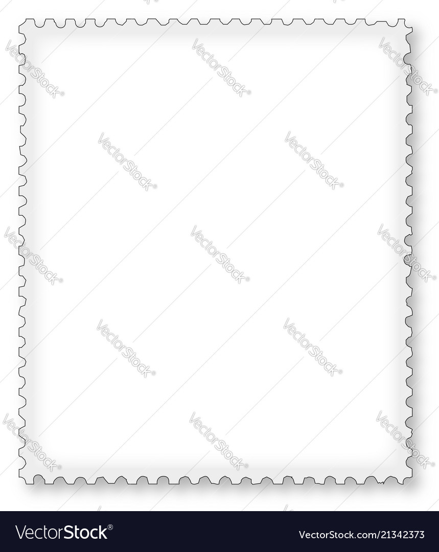 Postage Stamp Page Border Vector Image