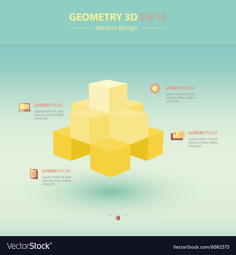 sphere geometry abstract 3d infographic vector image