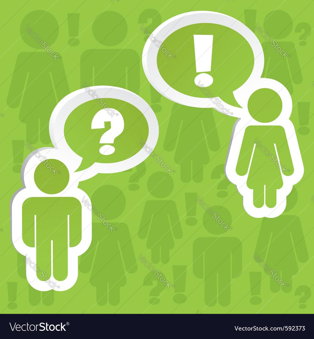 Sticker people vector image