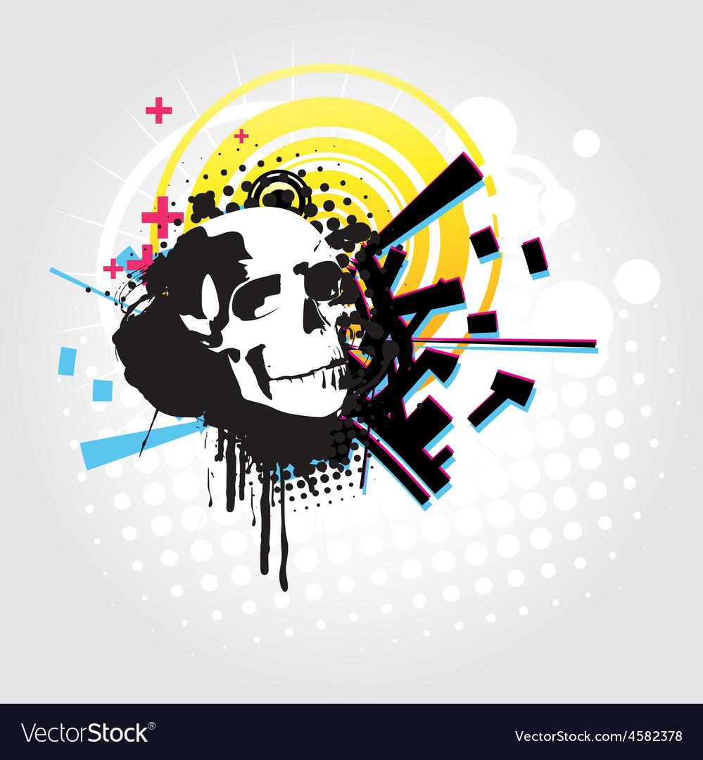Abstract skull art