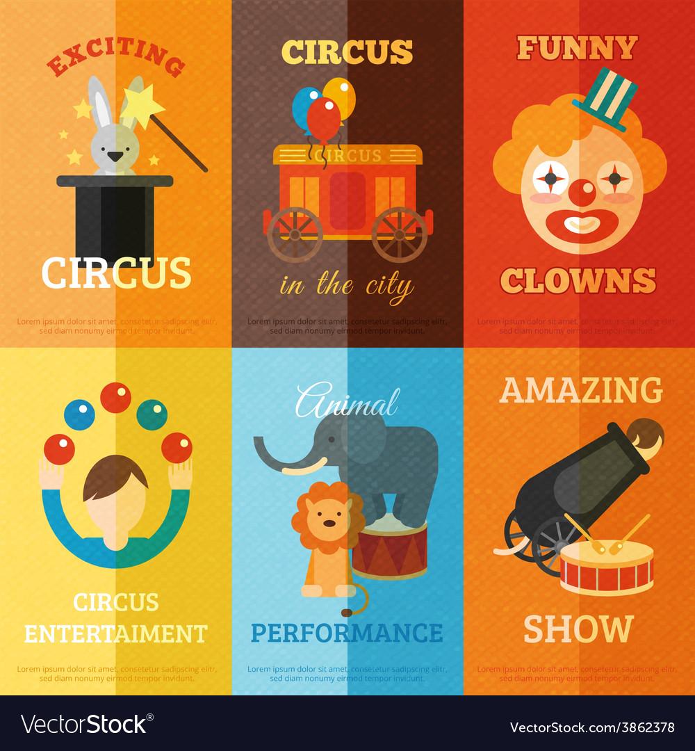 Circus Poster Set vector image
