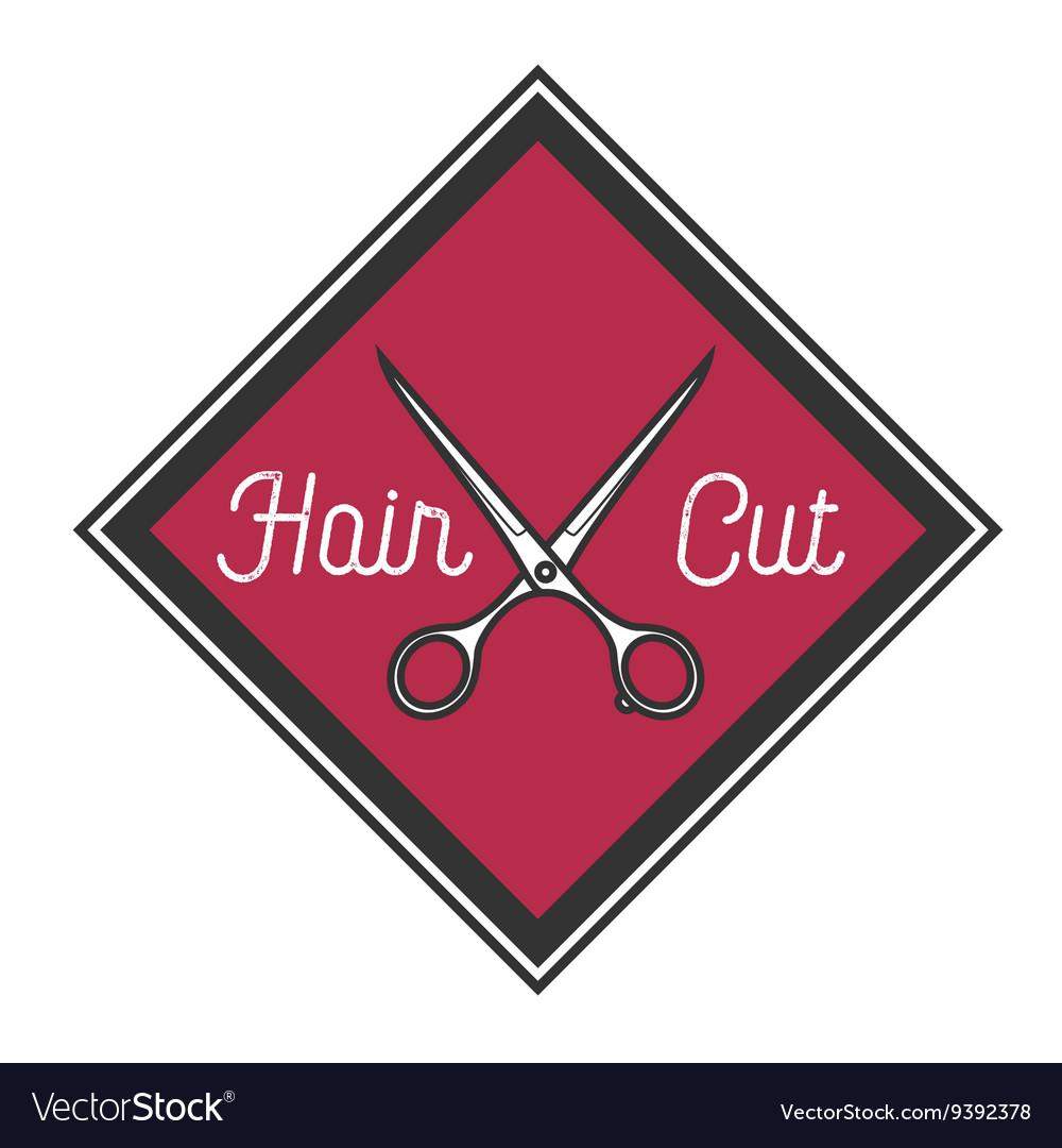 Color vintage barbershop emblem