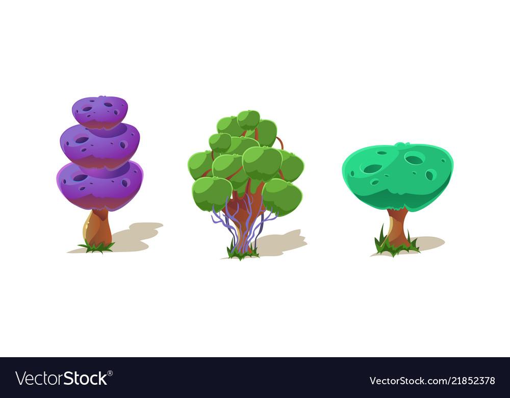 Colorful fantasy trees fantastic plants nature