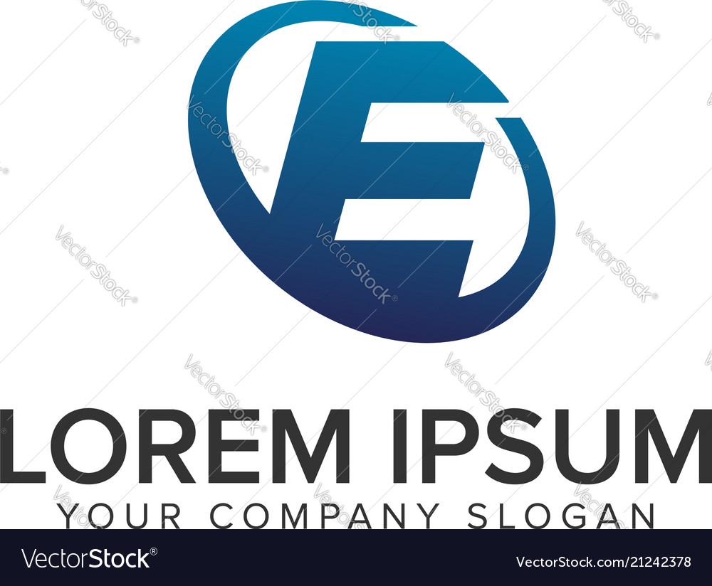 Creative modern letter e logo design concept