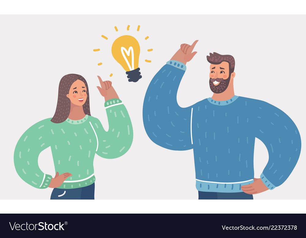 Man and woman have a great idea