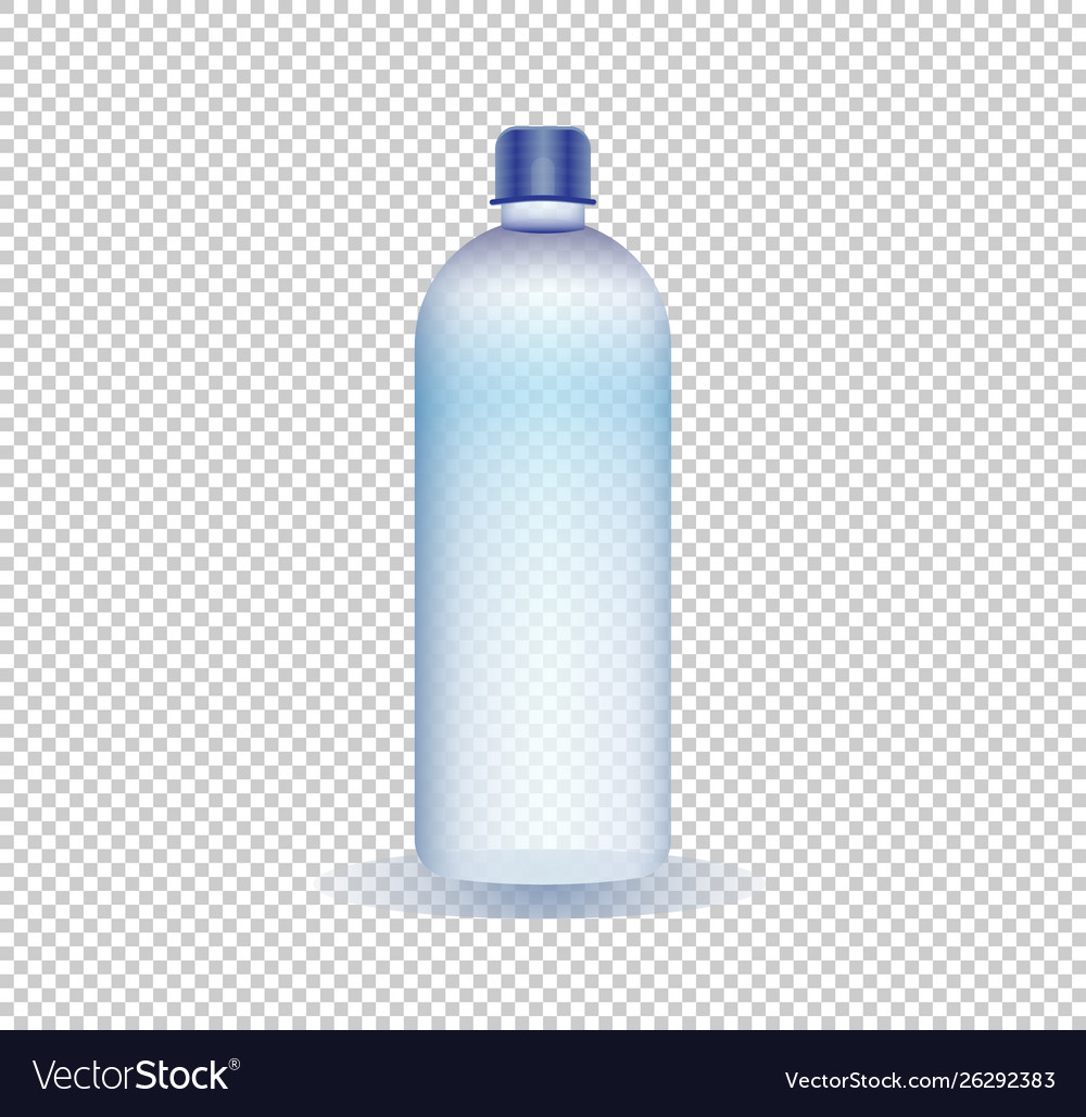 A Pure Water Bottle On A Transparent Background Vector Image