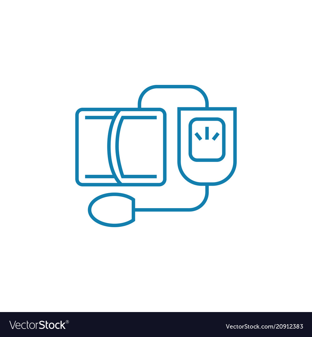 Blood pressure monitoring linear icon concept vector image