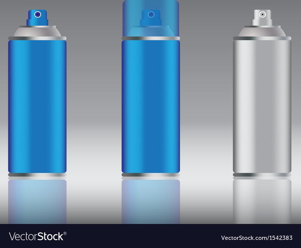 Blue spray can vector image
