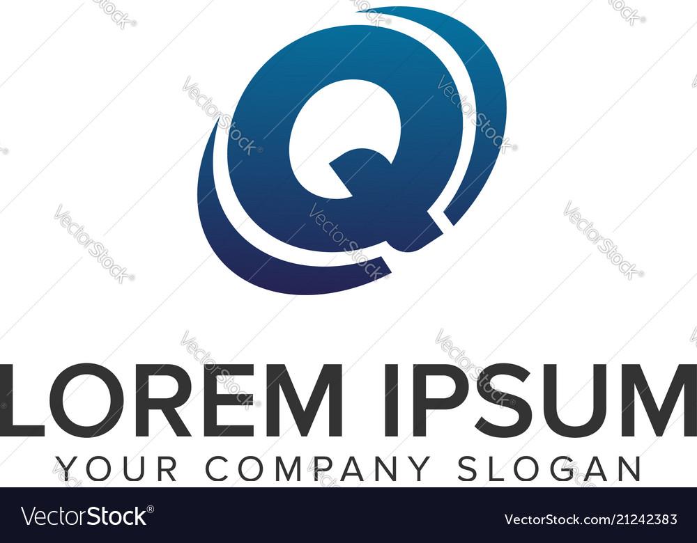 Creative modern letter q logo design concept