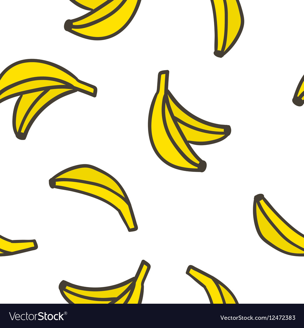Cute hand drawn bananas on a white background