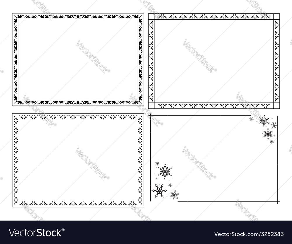 Decorative ornamental frames - set Royalty Free Vector Image